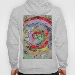 Textured Bullseye - Abstract, marble, pastel colours Hoody