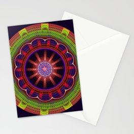 Fantasy flower mandala with tribal patterns Stationery Cards