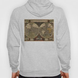 Vintage Map of The World (1595) Hoody