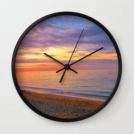 Comer Beach at Sunset Wall Clock