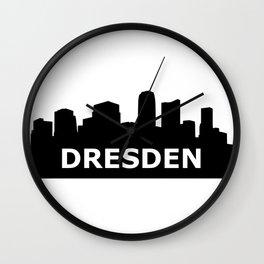 Dresden Skyline Wall Clock
