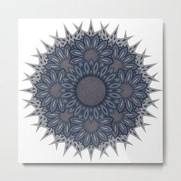 Denim flower bouquet  photocollage Metal Print