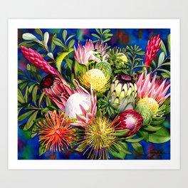 Protea Bounty Art Print