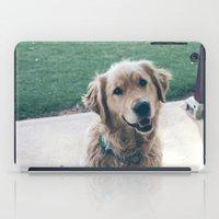 golden retriever iPad Cases featuring Golden Retriever by CallieDavis