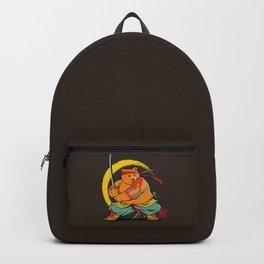 Yakuza Bear Samurai Backpack