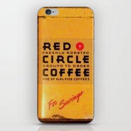Red Circle Coffee iPhone Skin