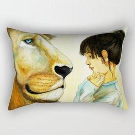 Le lion Rectangular Pillow