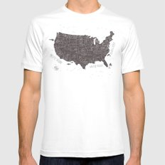 USA Mens Fitted Tee White MEDIUM