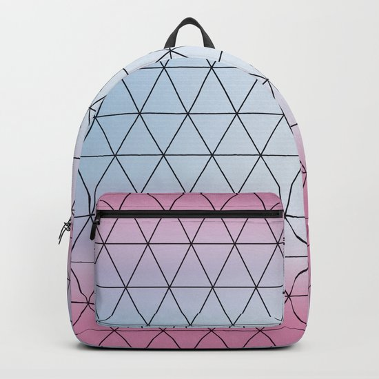 Eternity in Blue Pink Backpack