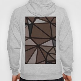 geometric triangle polygon pattern abstract in brown and black Hoody