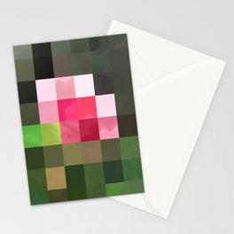 Pink Roses in Anzures 3 Abstract Rectangles 3 Stationery Cards