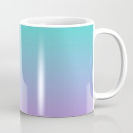 Pink turquoise , blue Ombre Coffee Mug