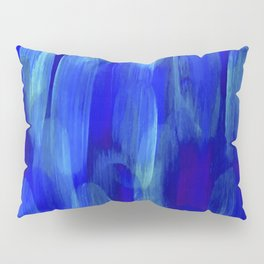 Abstract Layered Brush Texture Lapis Color Blue Shade Pillow Sham