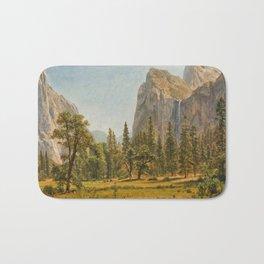 Albert Bierstadt - Bridal Veil Falls, Yosemite Valley, California (1872) Bath Mat