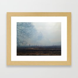 Until it continues Framed Art Print