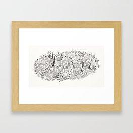 dummly island #1 Framed Art Print