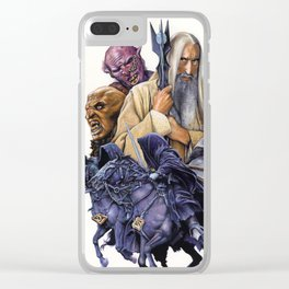 SARUMAN the WHITE - LORD OF THE RINGS Clear iPhone Case