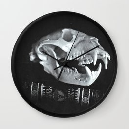 Bear Skull Still Life Wall Clock
