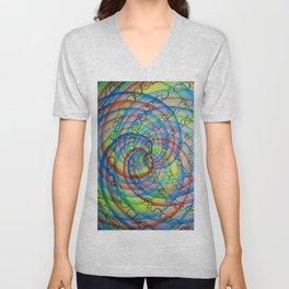 underpainting for spiral Unisex V-Neck