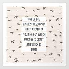 life lessons Art Print