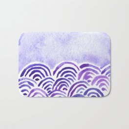Seigaiha or seigainami literally means wave of the wave . japanese pattern Bath Mat