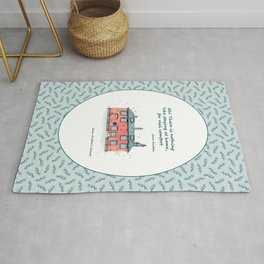 Jane Austen house and quote Rug