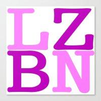lesbian Canvas Prints featuring LZBN Lesbian by SLANTEDmind.com