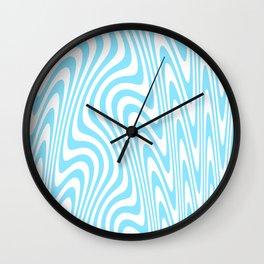 Cyan Squiggles Wall Clock