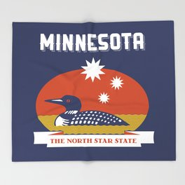 Minnesota - Redesigning The States Series Throw Blanket