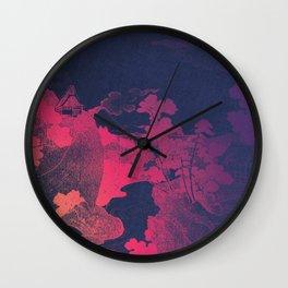 Utagawa Kuniyoshi's Valley in Mount Fuji remix Wall Clock