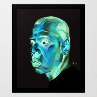 jay z Art Prints featuring JAY-Z by nachodraws