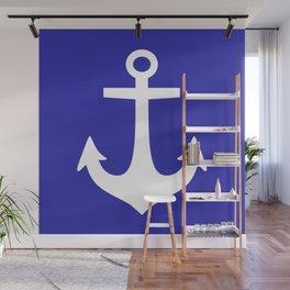 Anchor (White & Navy Blue) Wall Mural
