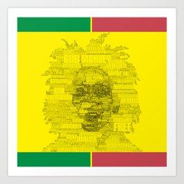 Words of Reggae Art Print