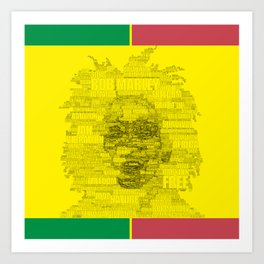 Words of Reggae Art Print