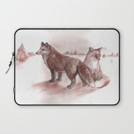 Ural foxes Laptop Sleeve