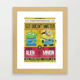 Size Doesn't Matter Framed Art Print