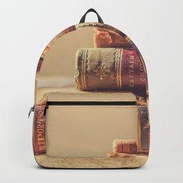 Vintage Book Stack (Color) Backpack
