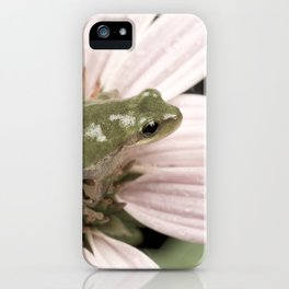 Treefrog on flower iPhone Case