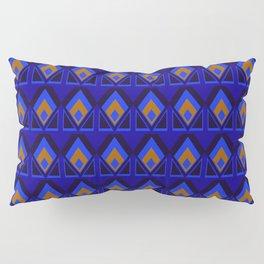 Blue and Orange Pattern Pillow Sham