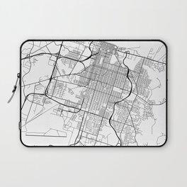 Savannah Map, USA - Black and White Laptop Sleeve