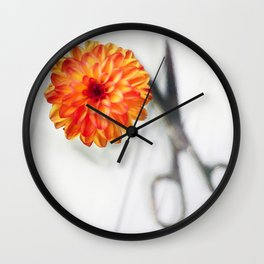 Freshly Cut Dahlia 2018 Wall Clock