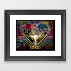 Heart of Stained Glass Framed Art Print
