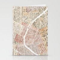 paris map Stationery Cards featuring Paris map by Mapsland
