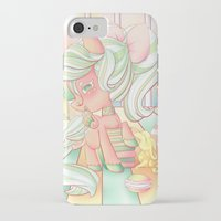 mlp iPhone & iPod Cases featuring Strawberry Dollop MLP by Whimsette