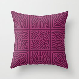Turing Pattern Squares (Purple Pink) Throw Pillow