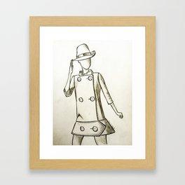 1960's Mod Fashion 2 Framed Art Print