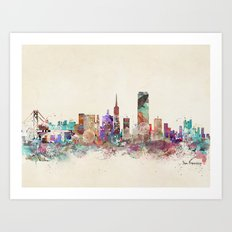 San Francisco city Art Print