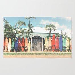 Surfboards Maui Hawaii Rug