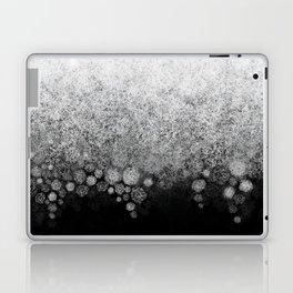 Snowfall on Black Laptop & iPad Skin