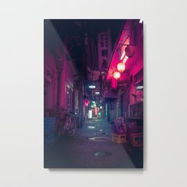 Tokyo Neon Underworld Metal Print